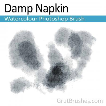 Damp Napkin - Photoshop Watercolor Brush