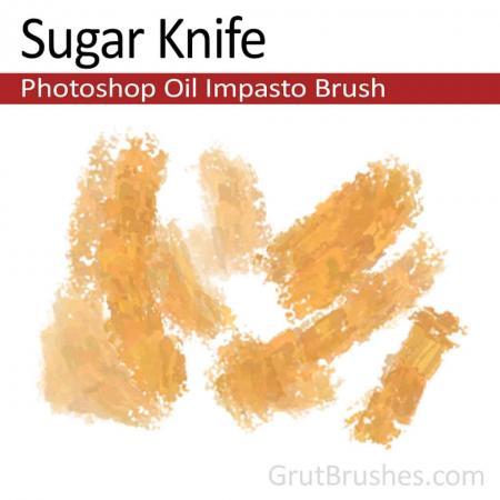Sugar Knife - Impasto Oil Photoshop Brush