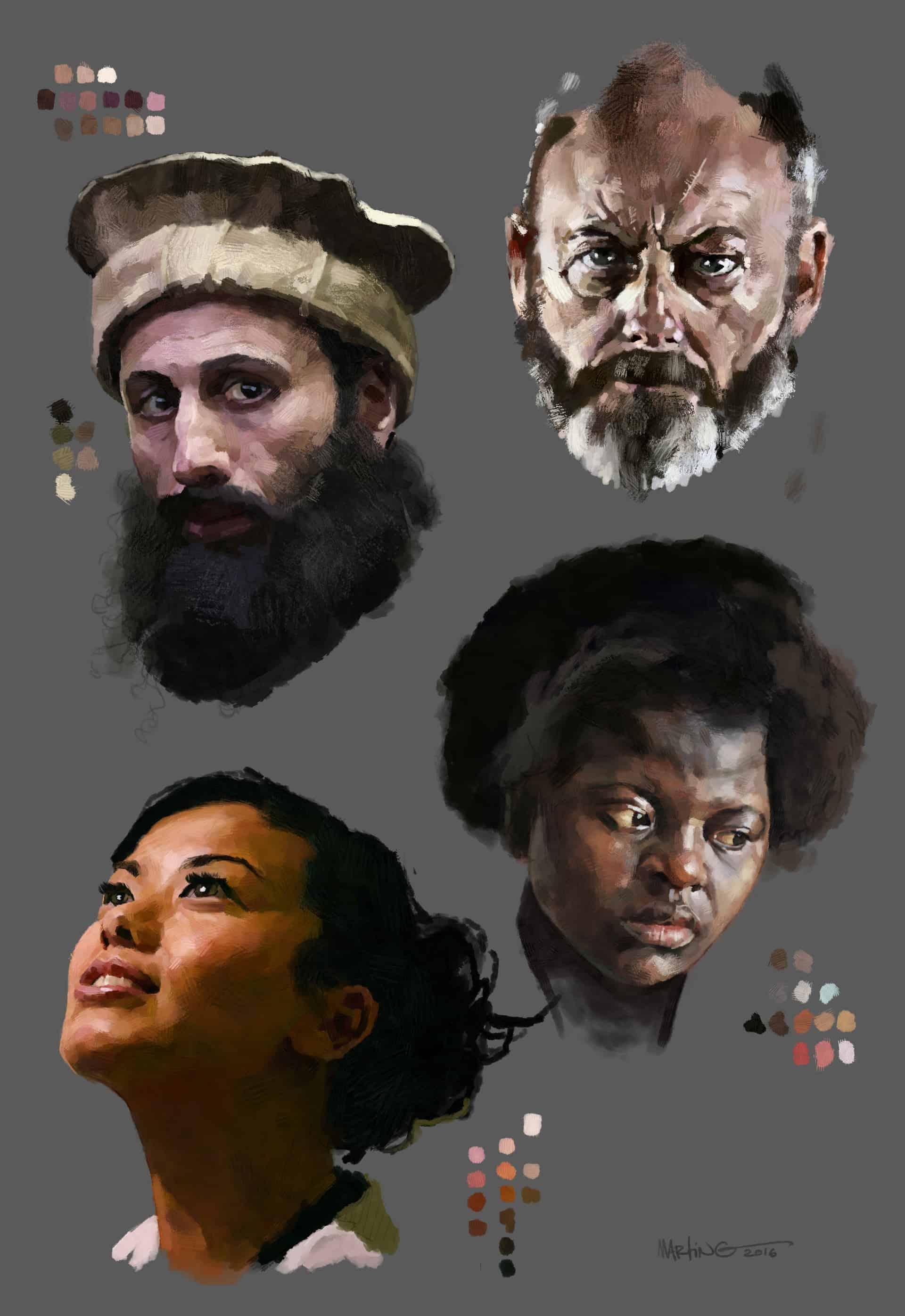 digital paint study by Martin Guldbaek (using GrutBrushes oil impasto Photoshop brushes)