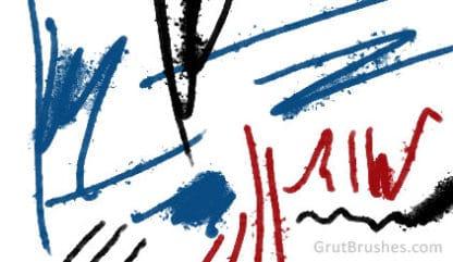 Splatter Reed - Photoshop Ink Brush