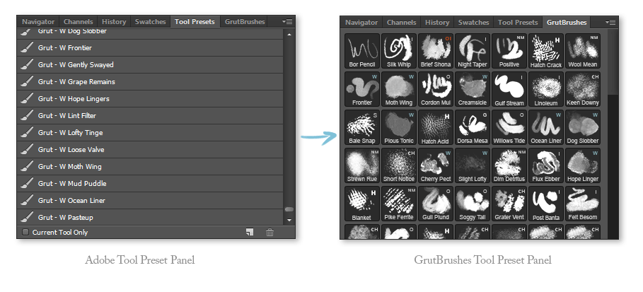 Show thumbnails of your Photoshop toolset presets